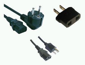 CANADA, USA AND EUROPE POWER CORD FOR COMPUTER, MONITOR AND MORE