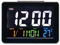 HJsheng Modern Fashion Home LED Digital Desk Clock - Bedside Large Screen LED Al