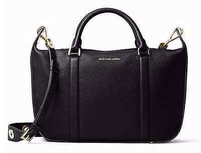 NWT Michael Kors Raven Black Large $368 Satchel PURSE Handbag