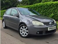 VOLKSWAGEN GOLF *GT TDI *55 PLATE *LOW MILES *PART SERVICE *HPI CLEAR *SAT NAV* WILL PART EX****