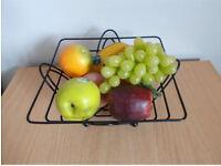 Lovely Black metal fruit bowl/dish