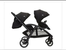Joie double push chair