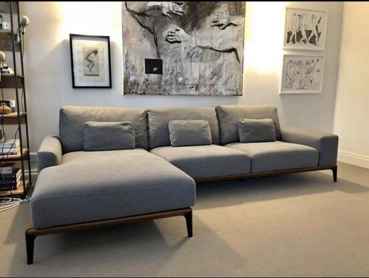 Dwell Malmo Left Hand Sofa Grey Rpr 1 950