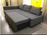 Grey ikea L shape sofa bed with storage, Free delivery