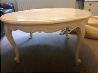 French antique style coffee table. Needs repainting. Ideal furniture restoration project.