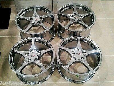 Chrome C5 Style Corvette wheels For 1997-2004 C5  17x8.5/18x9.5