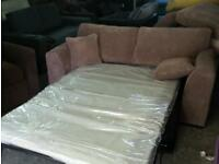 New jumbo cord metal action sprung sofa bed £179