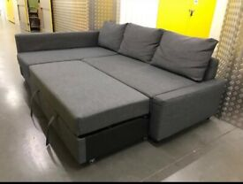 Grey L shape sofabed + storage •free delivery