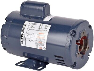 Bluffton 4101007408 13hp 1725rpm Single Phase Continuous Electric Motor