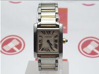 Cartier Tank Francaise - 18ct Yellow Gold & Stainless Steel Watch (Ladies)
