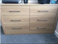 Hygena Bedroom 6 Drawer Chest - Oak Effect - Ready Assembled.