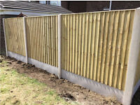 🌲Heavy Duty Feather Edge Close Board Wooden Straight Top Fence Panels