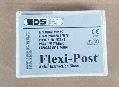 Essential Dental Systems Flexi-post Titanium Refill 145-03 Green 30pc Ea
