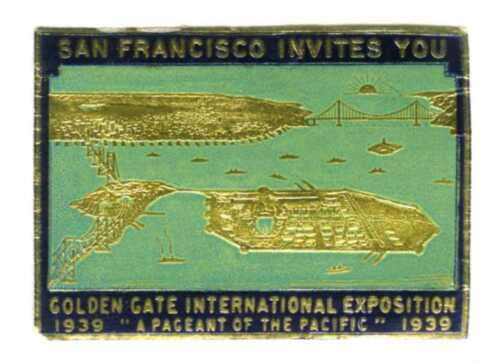 1939 GGIE SAN FRANCISCO INVITES YOU to GOLDEN GATE EXPOSITION~WORLD