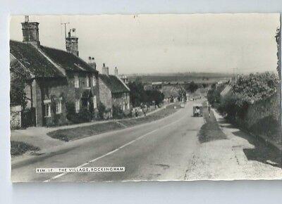 Postcard Rockingham Village Corby RP Rutland