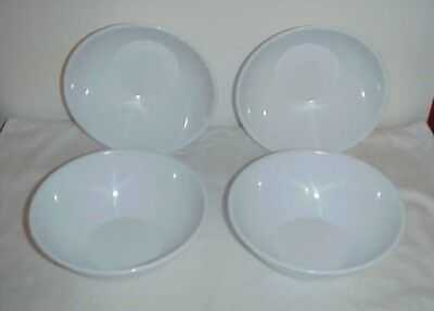 - Set of 4 - New  White Microwavable Bowls 6