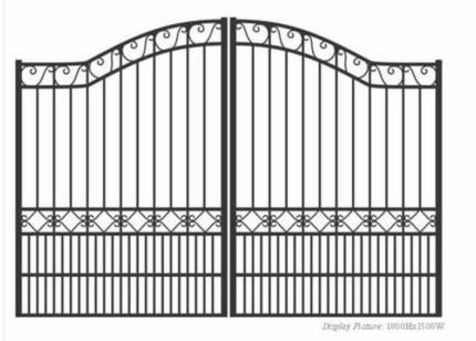 New black aluminium gates