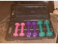Set of womens weights