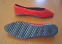Chaussures Souliers en suede rouge- Flats in Red / St-Valentin !