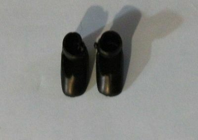 """Tiny Black shoes for vintage or modern 8"""" Betsy McCall or Ann Estelle doll"""