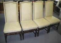 4 CHAISES CAPITONEES POUR DINER      4 DINING CHAIRS UPHOLSTERED