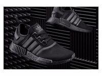 Adidas NMD R1 Triple Black Trainers size 10 mens (UK)