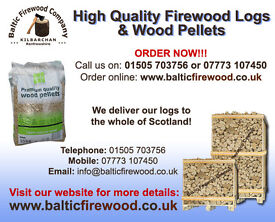 Hardwood Logs or Wood Pellets (great prices, high quality) delivered to your door