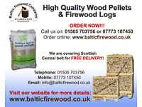 High quality Hardwood Logs or Wood Pellets (great prices) delivered FREE to your door