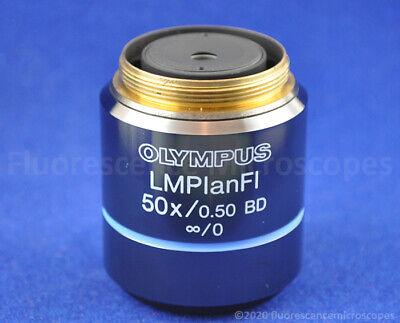 Olympus Lmplanfl 50x 0.50 0 Bd Darkfield Metallurgical Microscope Objective