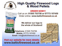 High quality firewood hardwood logs, wood pellets & peat briquettes delivered free to your door
