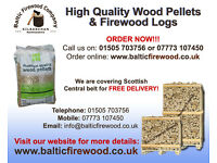 Hardwood Logs or Wood Pellets (great prices, high quality) delivered FREE to your door