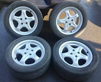 "►►(4) OEM ROH 16"" 4X100 RIMS & GOODYEAR 80% TIRES - $450"