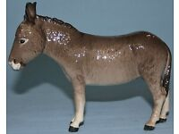 Rare Collectable Vintage Ornament Large Porcelain Beswick Donkey Standing Model No. 2267A Xmas Gift