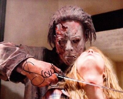 SCOUT TAYLOR COMPTON signed Autogramm 20x25cm HALLOWEEN In Person autograph COA