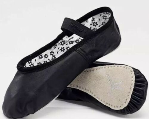 NEW Capezio Daisy 205X Black Leather Ballet Shoes Toddler Ch