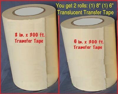 8 6 Application Transfer Paper Tape 300 Ft. Roll For Vinyl Plotter Cutter