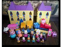 Bundle Peppa Pig Castle many figures