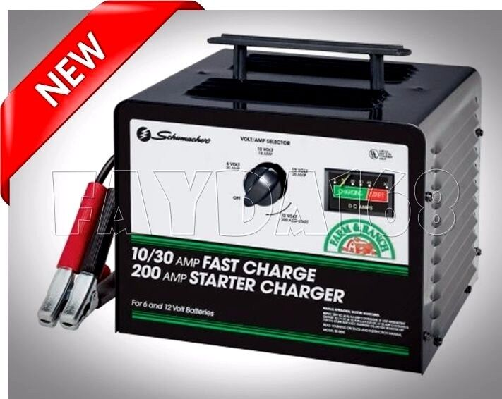 200 Amp Fast Battery Charger Jump Starter 12V Marine RV Car Truck Power Booster