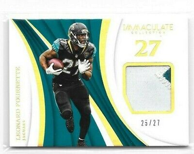 Leonard Fournette 2018 Panini Immaculate Collection Jersey Relic Patch /27 (Leonard Collection)