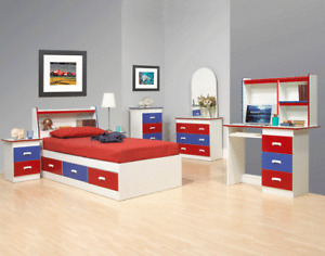BLOWOUT SALE KID STORAGE BEDROOM SET ** TRUNDLE BEDS & BUNK BEDS