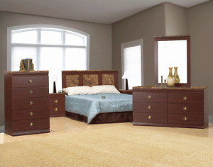 """8 PCS BED ROOM SET (include box and mattress)$499"""