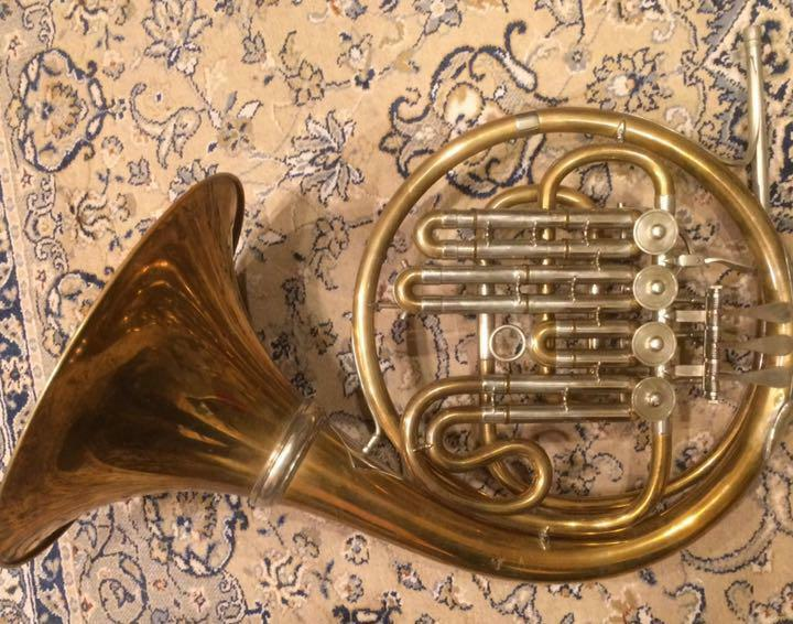 Hans Heuer GB Bass Single French Horn F/S From Japan