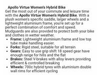 "Apollo virtue ladies 16"" bike"