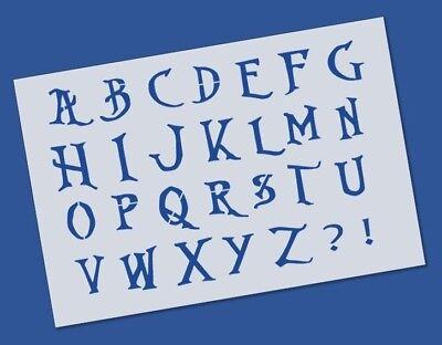 Nightmare before Christmas Style Alphabet Letter Stencil - Reusable Mylar ()
