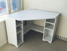 Corner desk IKEA Borgsjo light grey