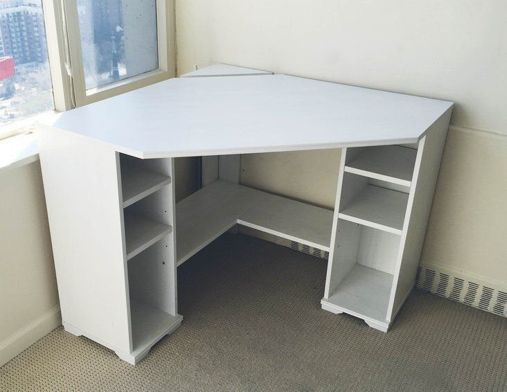 Corner Desk Ikea Borgsjo Light Grey In Washington Tyne And Wear