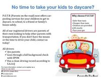 No time to take your kids to daycare ?