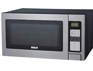 RCA 1.3 Cubic Foot Microwave with Grill Feature, Stainless Steel