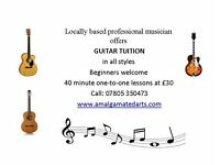 GUITAR TUITION BY PROFESISONAL MUSICIAN - WESTCLIFF, ESSEX - Beginners welcome