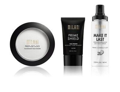 Milani Prime Shield Face Primer /Setting Spray /Setting Powder -CHOOSE YOURS